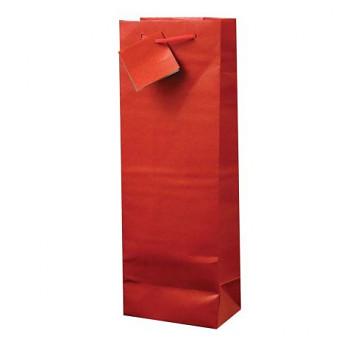 Taška dárková červená na 1 láhev