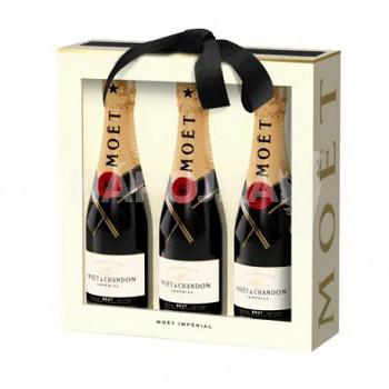 Moët & Chandon Brut Imperial 3x 0,2l 12% dárková sada