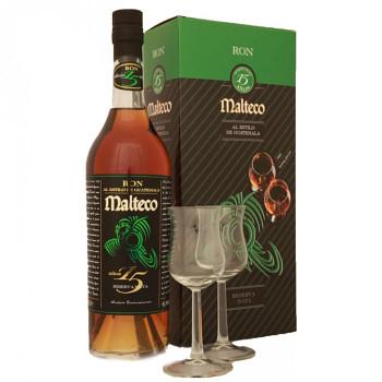 Malteco 15yo rum 0,7l 41,5% + 2x sklo