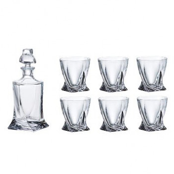 Liquer set Crystalite 1 x 850ml + 6 x 340ml