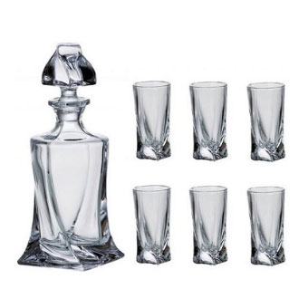 Liquer set Crystalite 1 x 500ml + 6 x 50ml