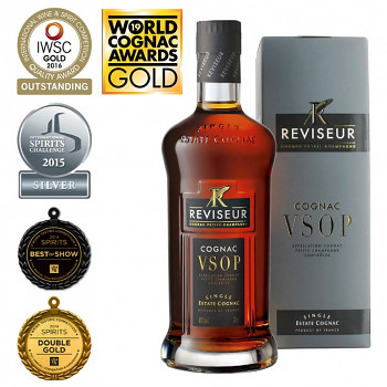 Reviseur  VSOP  Single Estate Cognac + dárkový kartónek 0,7l 40%