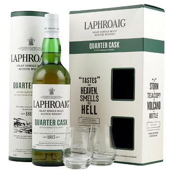Laphroaig Quarter Cask Whisky + sklo 0,7l 48%