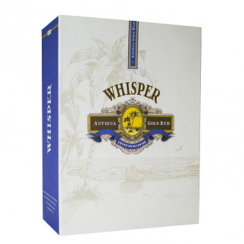 Whisper Antiqua Gold Rum 0,7l 40% + dárkový set