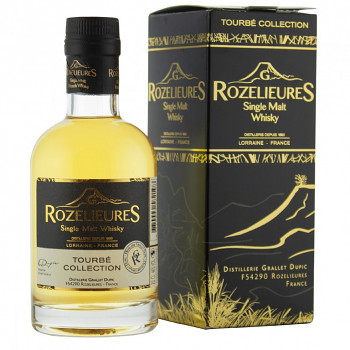 Rozelieures Tourbé French Single Malt Whisky 0,2l 46% + GB