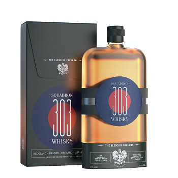 """Squadron 303 Whisky """"Blend of Freedom"""" 0,7l 44%"""